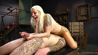 Sexual display with the milf dominating her man