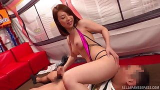 Hot Asian babe deals guy's dick in a perfect POV
