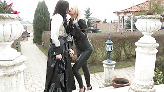 Threesome with two clothed babes Ivana Sugar and Sophie Lynx