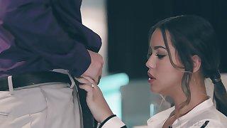 Taboo sex with best girlfriend Alina Lopez in front of her boyfriend
