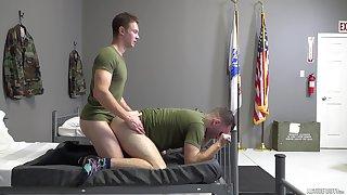 Gay servicemen Elijah Canon and Mark McKenzie's hot hookup