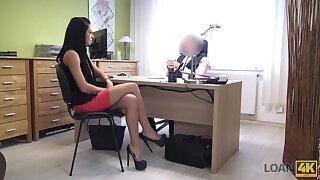 Inga's job interview goes very well cuz she is really good at sex