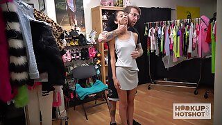 Submissive chick Jada Doll has to change clothes as her stud wants