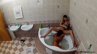 Superb nude scenes of erotic XXX action for two hot babes