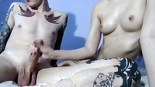 Teen handjob amateur facialized and drenched
