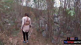 Real amateur couple blowjob and sex outdoor in public on an island