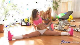 Passionate girls love a nice stretching together