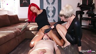 German Domina Let Slave Lick Floss Teen Pussy To Org