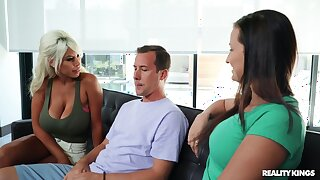 Rough shacking up between a younger man and busty cougar Bridgette B