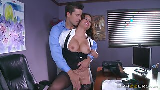 Sexy MILF is keen be advisable for a round of merciless sex with be passed on new manager