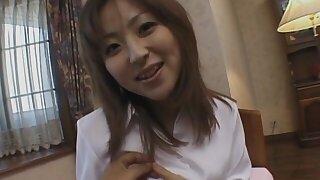 Uncensored video of cute Harukawa Mai getting fucked to missionary