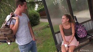 Outdoor fucking makes brunette Tiffany Tatum really muddied