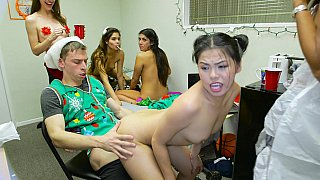 X-mas orgy thither a dorm