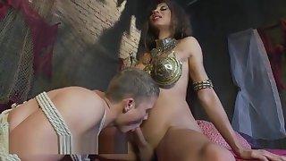 breasty ladyman Dominates Hunk