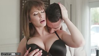 Super sexy wife Emily Addison is fucked and jizzed by hot blooded spouse