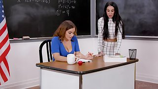 The classroom is the favorite place for good fuck if you ask Natasha Nice